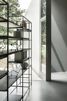 Contemporary shelf / wooden / metal / painted wood