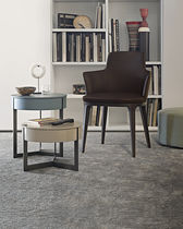 Contemporary nesting tables / wooden / metal / oval
