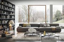 Modular sofa / contemporary / fabric / gray