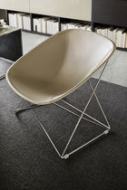 Contemporary chair / sled base / leather / by Ferruccio Laviani