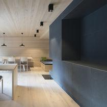 Decorative panel / natural fiber / wall-mounted
