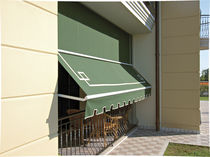 Drop-arm awning