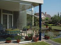 Sliding partition / glazed / residential / frameless