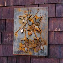Decorative panel / wall-mounted / aluminum / steel