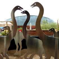 Aluminum sculpture / for public areas / outdoor