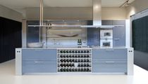 Contemporary kitchen / stainless steel / laminate / island