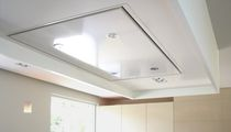 Built-in range hood / with built-in lighting