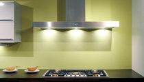 Island range hood / wall-mounted / low-noise / with built-in lighting