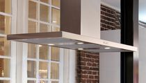 Island range hood / with built-in lighting / low-noise