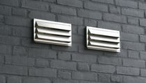 Metal ventilation grill / rectangular / for kitchens