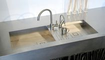 2-bowl kitchen sink / stainless steel