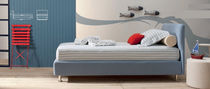 Single bed / contemporary / with in-base storage / fabric