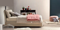 Single bed / contemporary / upholstered / fabric