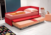 Pull-out bed / single / contemporary / fabric