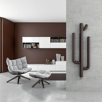 Hot water radiator / steel / contemporary / vertical