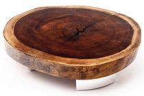 Coffee table / round / contemporary / wood