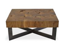 Coffee table / square / contemporary / wood
