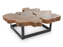 Coffee table / contemporary / wood / restaurant