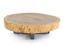 Coffee table / contemporary / metal / wood