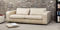 Contemporary sofa / leather / 2-seater