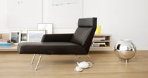 Contemporary daybed / leather / indoor