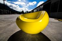 Urban armchair / organic design / concrete / polyurethane-coated