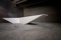 Indoor bench / public / contemporary / engineered stone