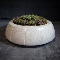 Concrete planter / wooden / marble / natural stone