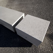 Public bench / contemporary / marble / engineered stone