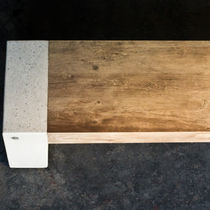 Public bench / contemporary / concrete / engineered stone