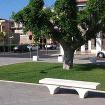 Public bench / contemporary / marble