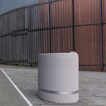 Public trash can / concrete / marble / contemporary