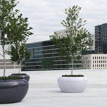 Concrete planter / natural stone / marble / granite