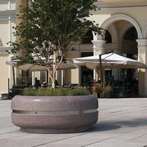 Steel planter / stainless steel / marble / natural stone