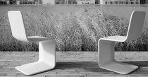 Contemporary visitor chair / concrete / cantilever / for public buildings