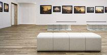 Minimalist design stool / concrete / modular / outdoor