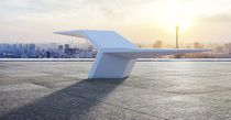 Public bench / original design / high-performance concrete