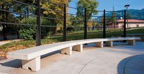 Public bench / contemporary / engineered stone / marble