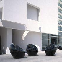 Concrete urban armchair / polyurethane-coated / for public areas / indoor