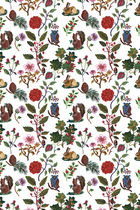 Contemporary wallpaper / animal motif / floral / child's