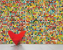 Contemporary wallpapers / multi-color / non-woven / printed