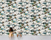 Contemporary wallpapers / multi-color / patterned / non-woven