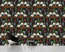 Contemporary wallpaper / multi-color / nature pattern / animal motif