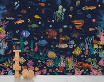 Contemporary wallpapers / multi-color / nature pattern / animal motif