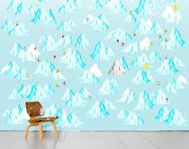 Multi-color wallpaper / nature pattern / paper / contemporary