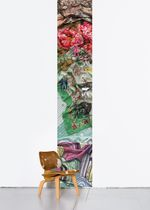 Contemporary wallpaper / multi-color / fabric look / printed
