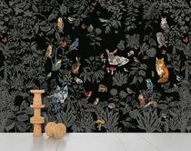 Contemporary wallpapers / nature pattern / animal motif / black