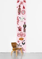 Contemporary wallpaper / multi-color / animal motif / floral