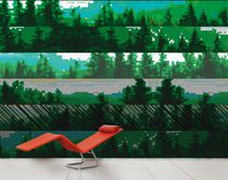 Contemporary wallpaper / nature pattern / scenic / multi-color
