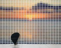 Contemporary wallpaper / multi-color / scenic / nature pattern